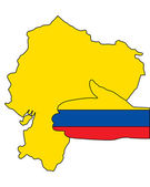 Welcome to Ecuador — Stock Vector