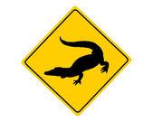 Alligator warning sign — Vector de stock
