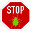 Aphid stop sign — Stock Vector #48960019