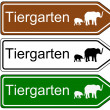 Direction sign zoo — Stock Vector #49401481