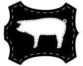 Pigskin silhouette — Stock Vector