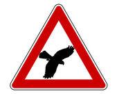 Bird swoop warning sign — Vetorial Stock