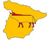Spanish bull — Vector de stock