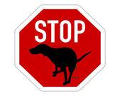 Stop sign dogs dump  — Vetorial Stock