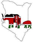 Elefantes no quênia — Vetorial Stock