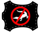 Geen krokodillenleer — Stockvector