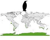 Penguins range — Stockvektor