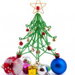 Christmas bauble and christmas wirefir — Stock Photo #1288383