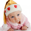 Pretty child in christmas hat — Stock Photo #1288482