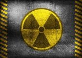 Grunge nuclear radiation symbol — Stock Vector