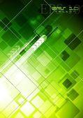 Technology green backdrop — Stock Vector