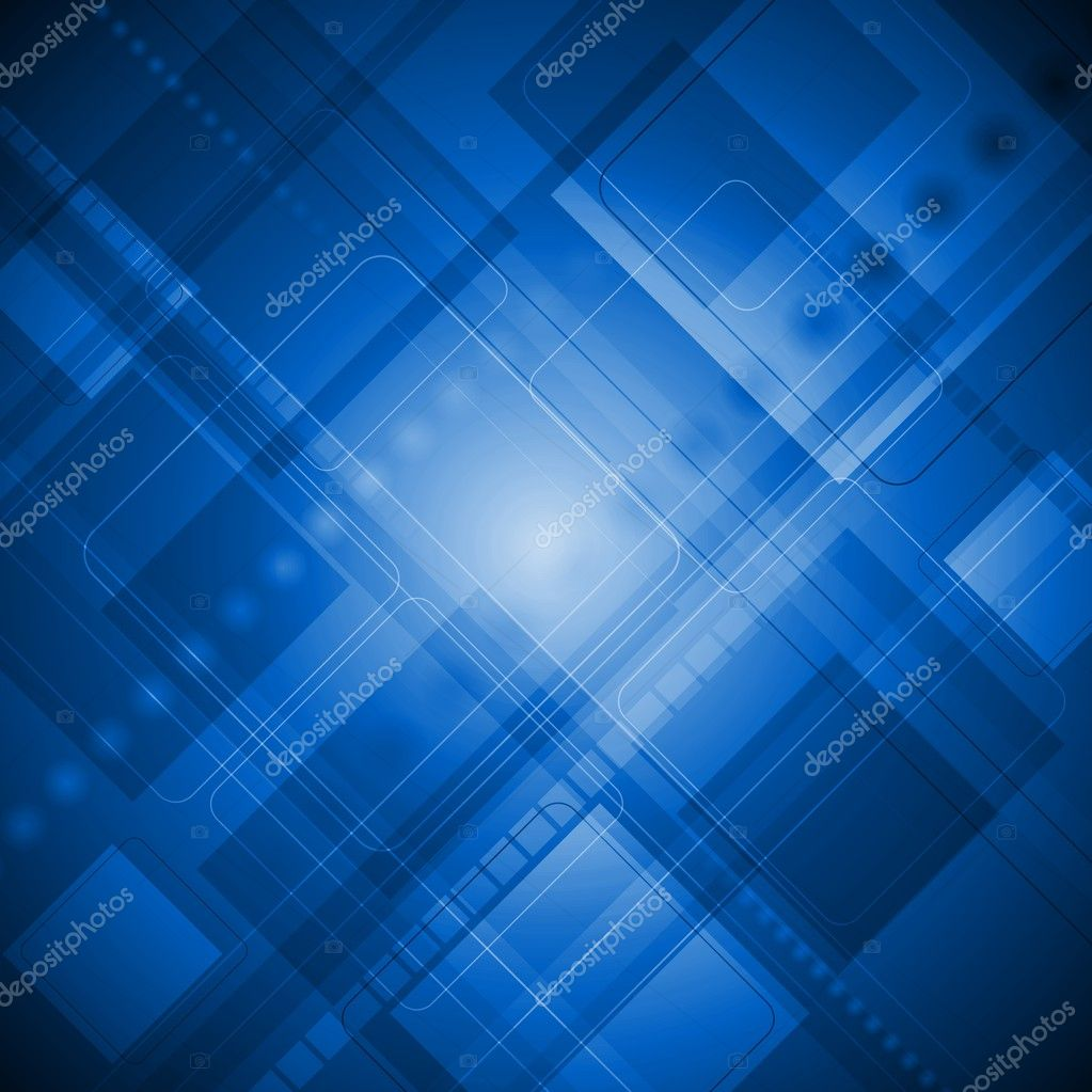Blue Technology: Blue Technology Background