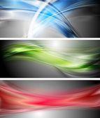 Shiny wavy vector banners — Stock Vector