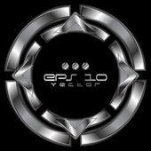 Abstract metallic shape logo — Stock Vector