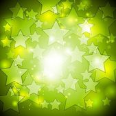 Bright green stars vector design — Stock Vector