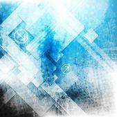 Vector blue tech grunge backdrop — Stock Vector