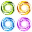 Stock Vector: Abstract shiny vector circles