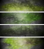 Green textural backgrounds set — Stock Vector