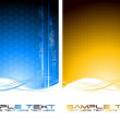 Two abstract tech banners — Stock Vector #3394043