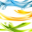 Abstract colorful wavy vector banners — Stock Vector