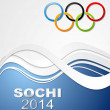 Stock Vector: Olympic Games in Sochi, 2014