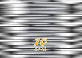 Abstract silver metallic stripes — Stock Vector