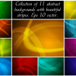 Abstract backgrounds collection — Stockvektor  #4339392