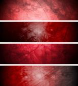 Red textural banners — Stock Vector