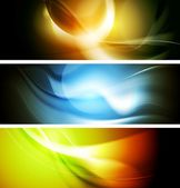 Bright wavy background. Gradient mesh — Stock Vector
