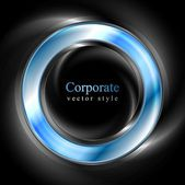 Bright glow blue web circle element — Vector de stock