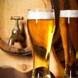 Still life with a draft beer - Stock Photo