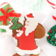 Royalty-Free Stock Photo: Christmas Santa cookies on the white background