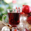 Cranberry punch or red hot wine - Stock Photo