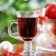 Cranberry punch or red hot wine -  