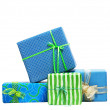 Boxes tied with a ribbon bow — Stock Photo