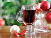 Cranberry punch or red hot wine — Stock Photo
