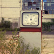 Damaged gas station — Stock Photo