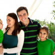 Stock Photo: Portrait of a happy smiling family