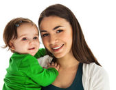 Happy smiling mother with baby girl — Stock Photo