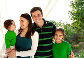 Portrait of a happy smiling family — Stock Photo