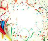 Confetti on retro background — Stock Photo