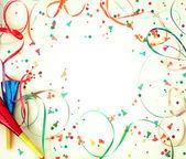 Confetti op retro achtergrond — Stockfoto