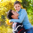Foto Stock: Happy young couple in love