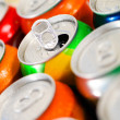 Cans of sweet drinks (or beer) — Stock Photo #17700357