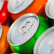 Cans of sweet drinks (or beer) — Stock Photo #17700439