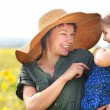 Happy mother and her little daughter — Foto Stock