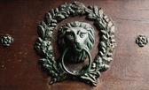 Close-up of old door in Praha, — Stock Photo