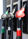 Close-up of hoses in a service station — Stock Photo