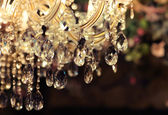 Gros plan de lustre chrystal — Photo
