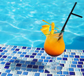 Bright orange cocktail — Stock Photo